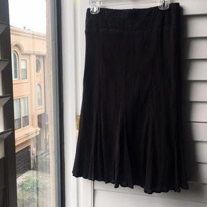 Black cotton charter club skirt with elastic waist